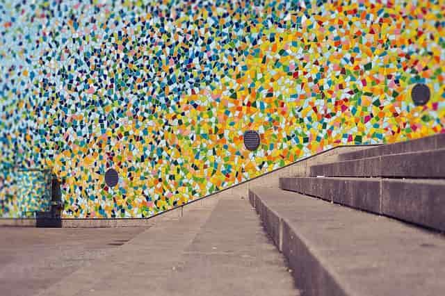 hálós mozaik csempe